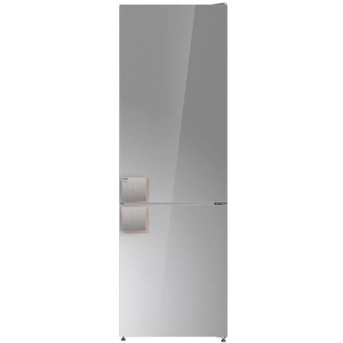 Хладилник с фризер Gorenje NRK 612 ST, клас A++, 329 л. общ обем, свободностоящ, 234 кWh/годишно, AdaptTech, MultiFlow 360°, NoFrost Plus, LED дисплей, сив image
