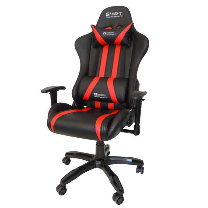 Геймърски стол Sandberg Commander, черно-червен image