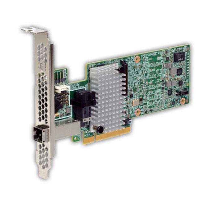 RAID контролер LSI MegaRAID SAS 9380-4i4e, PCI-E 3.0 към mini-SAS (SFF8644) & mini-SAS (SFF8643), SATA/SAS 12Gb/s, 2 портов, 1GB RAM, поддържа RAID 0, 1, 5, 6, 10, 50, and 60 image