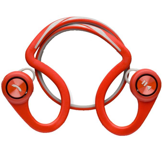 Слушалки Plantronics BACKBEAT FIT, Bluetooth 3.0, микрофон, водоустойчиви, червени image