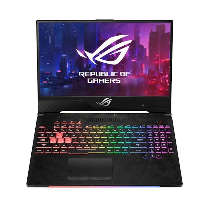 "Лаптоп Asus ROG Strix SCAR II GL504GV-ES003 (90NR01X1-M00880), шестядрен Intel Core i7-8750H 2.2/4.1 GHz, 15.6"" (39.62 cm) FHD Anti-Glare 144Hz Display & GeForce RTX 2060 6GB , (HDMI), 16GB DDR4, 1TB HDD & 256GB SSD, USB 3.1 Type-C, Free DOS, 2.4 kg image"