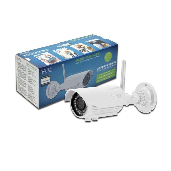 IP камера ASSMANN DIGITUS Plug&View OptiVario DN-16039, IP камера, 2Mpix, 2.8-12мм вариообектив, WLAN, Day-Night, IP66, IR прожектор, 2GB памет, PoE image