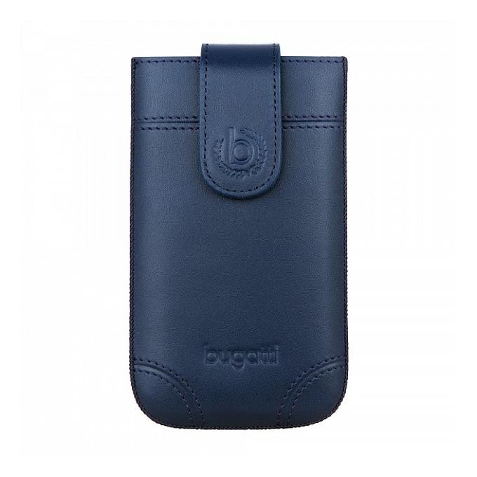 Калъф за Apple iPhone 5/5S/5C и Galaxy S4 mini, джоб, естествена кожа, SlimCase Dublin ML, син image