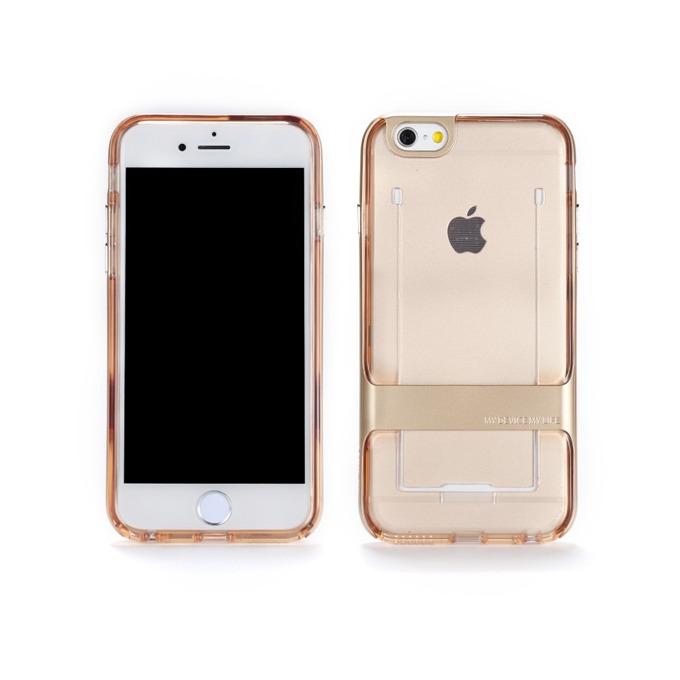 Калъф Apple iPhone 6/6S, страничен протектор с гръб, термополиуретанов, Remax Shapeshifter, златист image