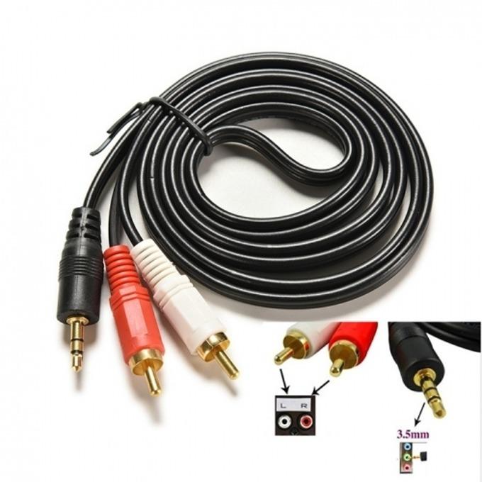 Кабел Digital One SS000035, от 3.5mm Jack(м) към 2x RCA Chinch(м), 1.5m, черен image