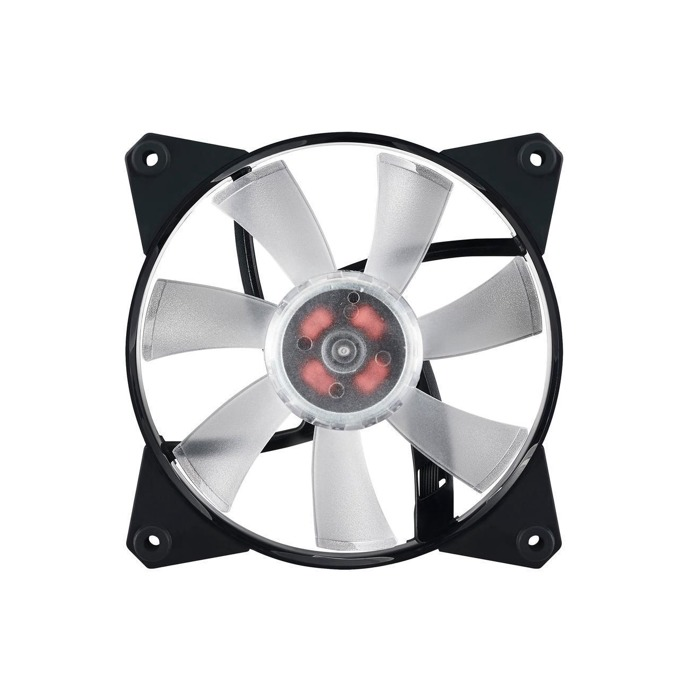 Вентилатор 120mm, CoolerMaster MasterFan Pro 120 Air Flow, 4-pin, 1100 rpm, червен, подсветка image