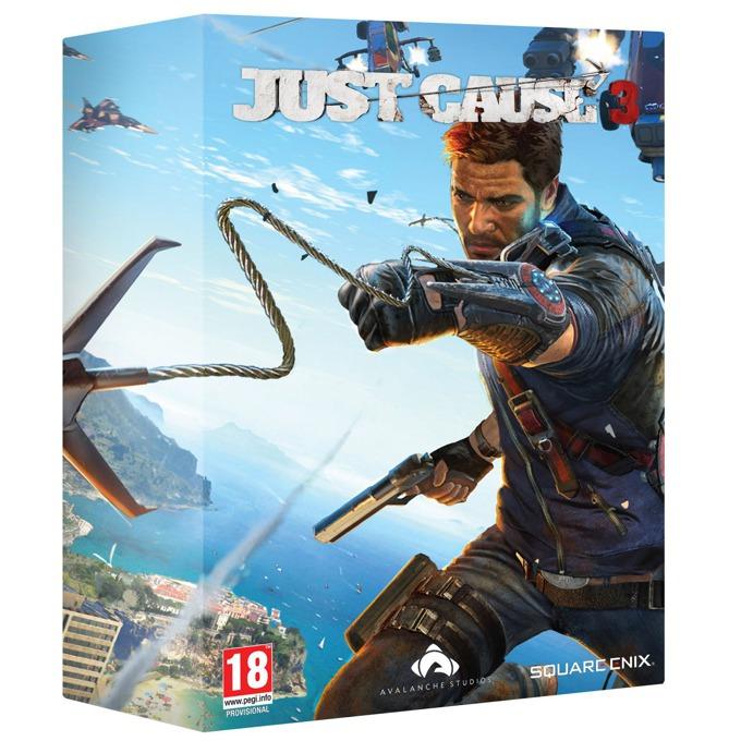 Игра за конзола Just Cause 3 Collectors Edition, съдържа, реплика на изстрелващата се кука на Rico, Артбук - 32 страници с концептуален арт от играта, Карта на острова Medici, за PS4 image