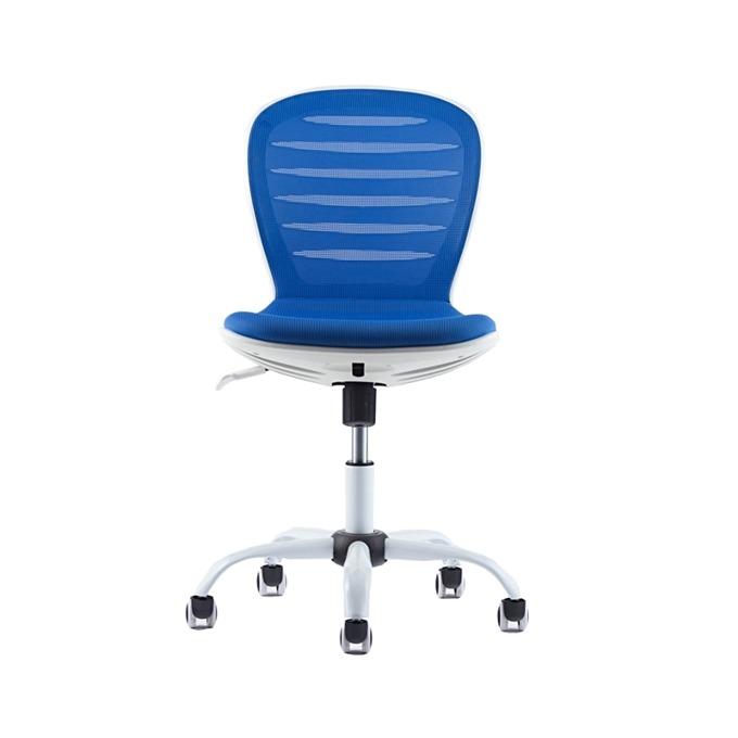 Детски стол RFG Flexy White, дамаска и меш, синя седалка, синя облегалка image