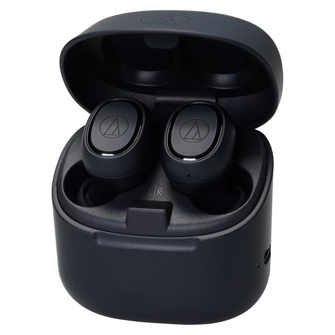 Слушалки Audio-Technica ATH-CK3TW, безжични, микрофон, до 6 часа възпроизвеждане, Bluetooth, кутия за зареждане, черни image