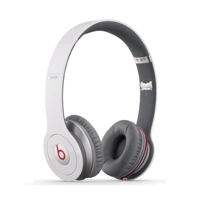 Слушалки Beats by Dre Solo HD On Ear, бели, сгъваеми, оптимизирани за iPhone/iPad/iPod image