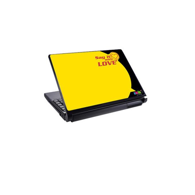 Декорация /скин/ Fullmark LS2007, за лаптопи до 26.7 x 39.37cm, жълт-Love image