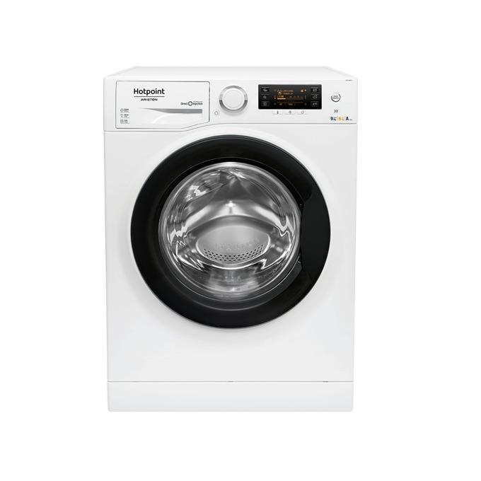 Пералня със сушилня Hotpoint-Ariston RDPD96407, клас A, 9 кг. капацитет пералня/6 кг. капацитет сушилня, 1400 оборота в минута, 16 програми на пране, 3 прогами на изсушаване, свободностояща, 54.0 cm. ширина, отложен старт, дисплей, бяла image