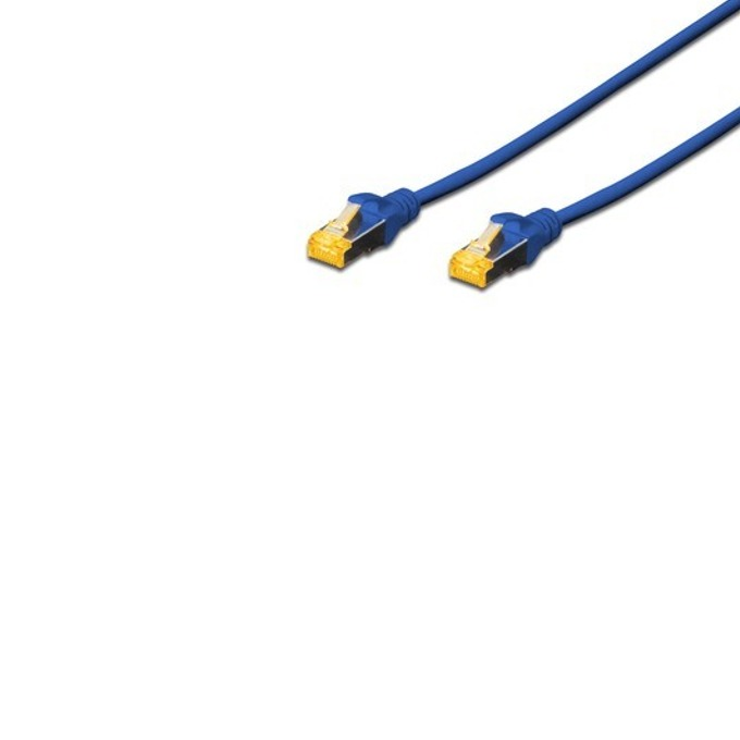 Пач кабел Assmann, SFTP, Cat.6A, 0.5m, син image