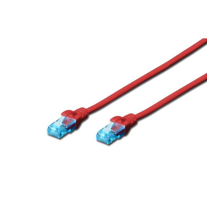 Пач кабел, Digitus, UTP, Cat.5e, 3m, червен image