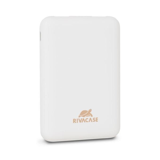 Bъншна батерия /power bank/ Rivacase VA2405, 5000 mAh, 1x USB Type C, 2x USB A, бяла image