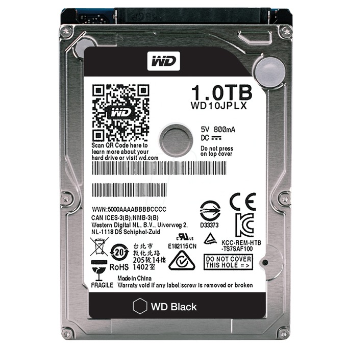 "Tвърд диск 1TB WD Black, SATA 6Gb/s, 7200 rpm, 32MB кеш, 2.5"" (6.35cm), bulk image"