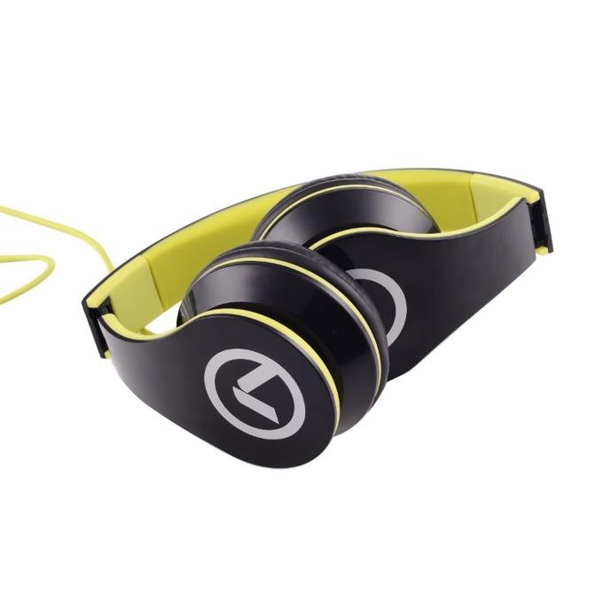 Слушалки Amplify Low Ryders AM2003/BKG, микрофон, 40mm говорители, сгъваеми, 1.2м кабел, черно-зелени image