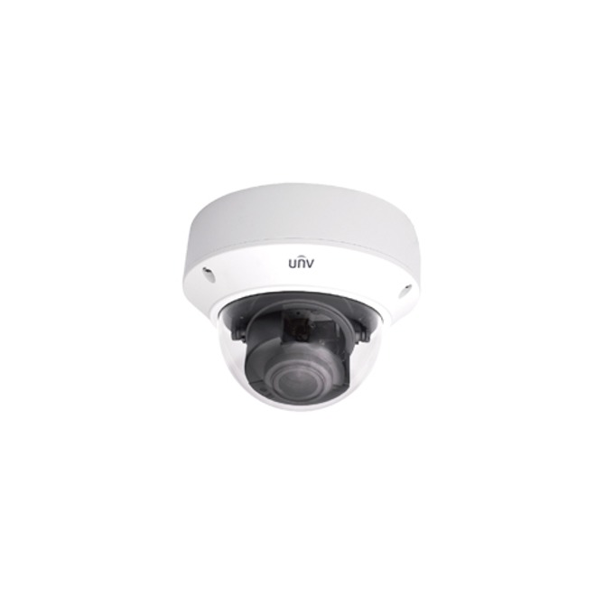 IP камера Uniview IPC3234SR3-DVZ28, куполна, 4 Mpix(2592×1520@20fps), 2.8~12mm обектив, H.265/H.264/MJPEG, IR осветеност (до 30 метра), външна, вандалоустойчива IK10, PoE, IP67 защита, microSD слот image