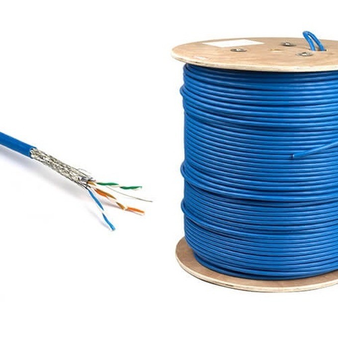 Кабел ACnetPLUS S/FTP Solid 23AWG Class E, S/FTP, Cat 7, ролка 500m, син image
