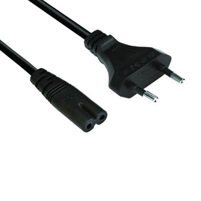 Захранващ кабел за лаптоп VCom, 250V, 2pin, 1.5м image
