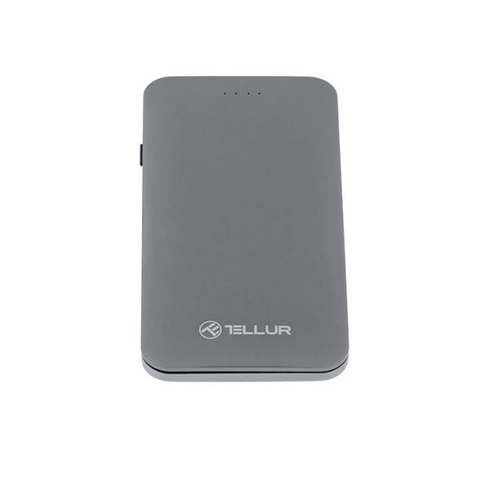 Външна батерия/power bank/ Tellur 3in1 TLL158131, 5000mAh, 1x USB QuickCharge 3.0, 6V/3A, 3in1 кабел (MicroUSB, Lightning, USB-C), сребрист image