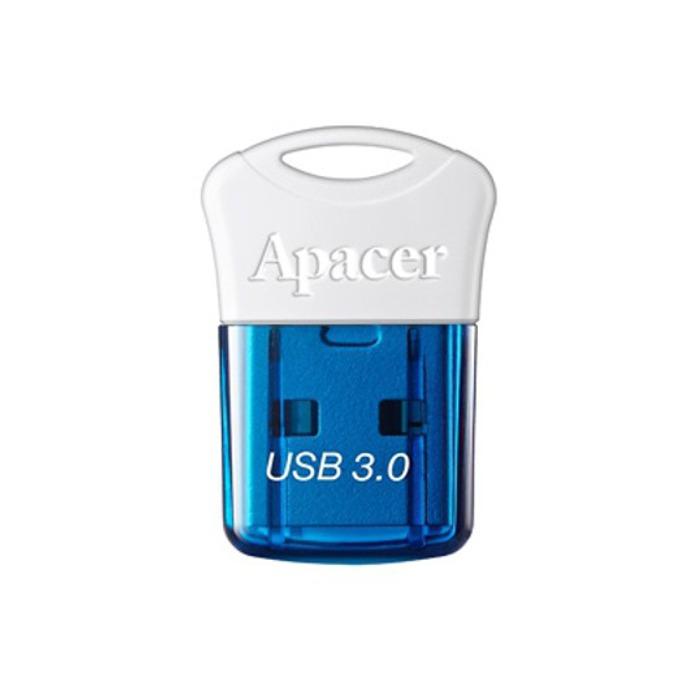 64GB USB Flash Drive, Apacer AH157, USB 3.0, синьо/бяла  image