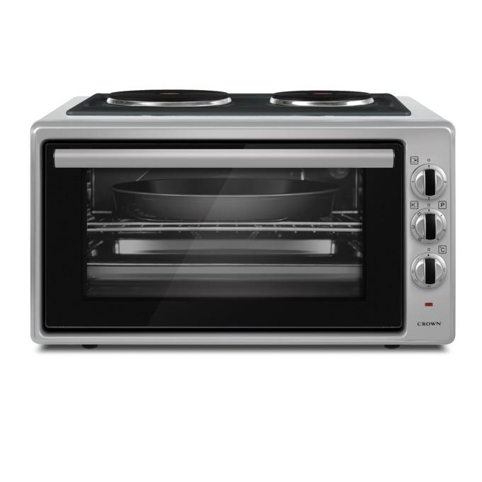 Готварска печка Crown MDO-42IX, 1600W, 42 л. обем, 2 котлона, енергиен клас A, сива image
