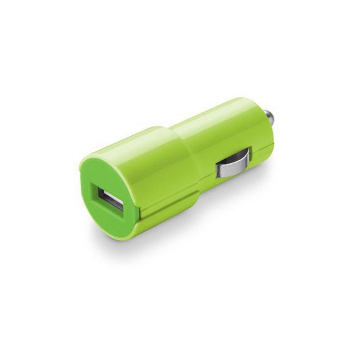 Зарядно устройство /универсално/ Cellular Line Smarty USB, 1A, USB(ж), за кола, зелено image