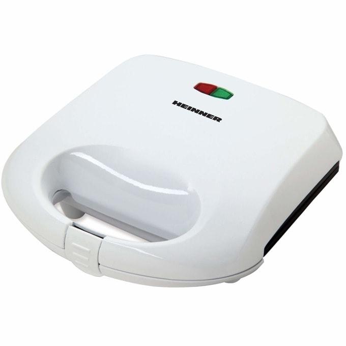 Сандвич скара Heinner SM-K750W, незалепващи се и подвижни грил плочи, индикатор за температура, 750W, бял image