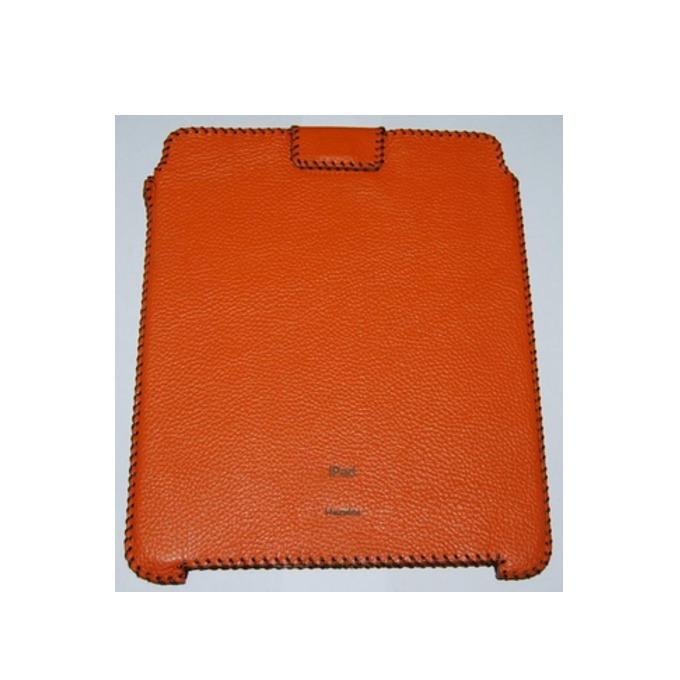 """Калъф """"джоб"""" HardCE iSoft, оранжев, кожен (естествена кожа), за iPad (първо поколение) image"""