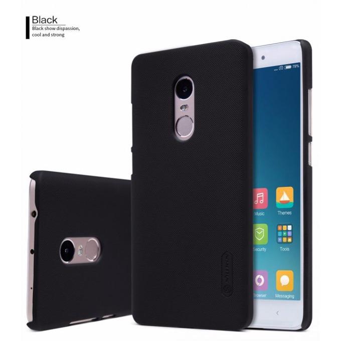 Калъф за Xiaomi Redmi Note 4X, страничен с гръб, висококачествена пластмаса, Nillkin, черен image