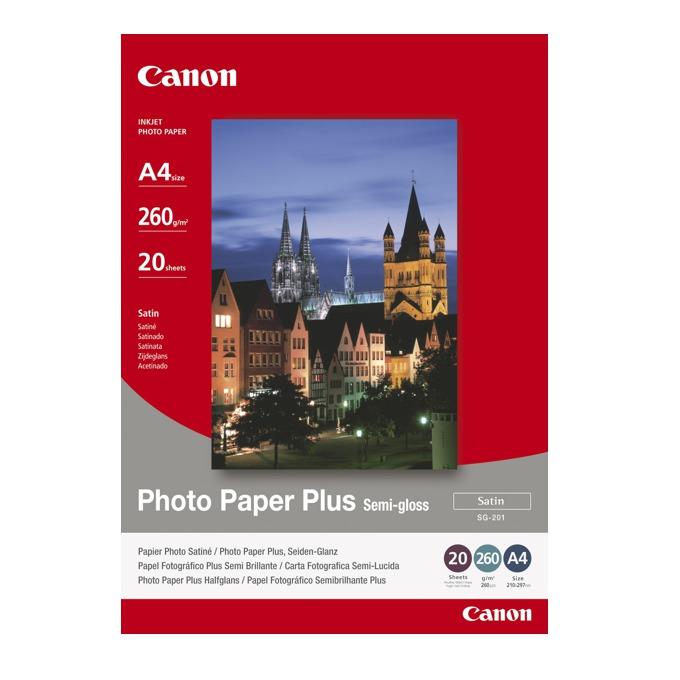 ХАРТИЯ CANON SG-201 A4 - PHOTO PAPER PLUS Semi - gloss  - A4 - 260gr. - заб.: 20л. image