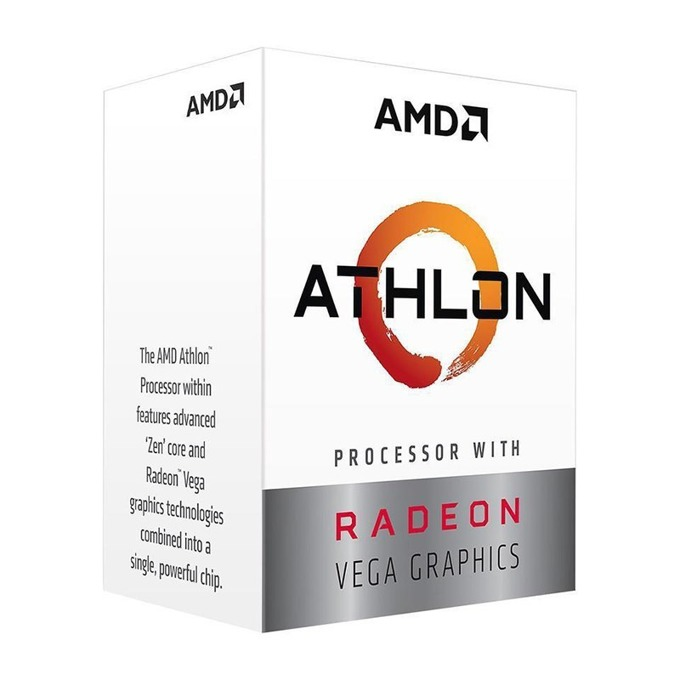 Процесор AMD Athlon 200GE двуядрен (3.2GHz, 4MB cache, 1.00GHz GPU, AM4) BOX, с охлаждане  image