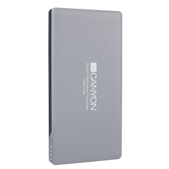 Външна батерия/power bank/ Canyon CNS-TPBP10DG, 10000mAh, USB, Lightning, сива image