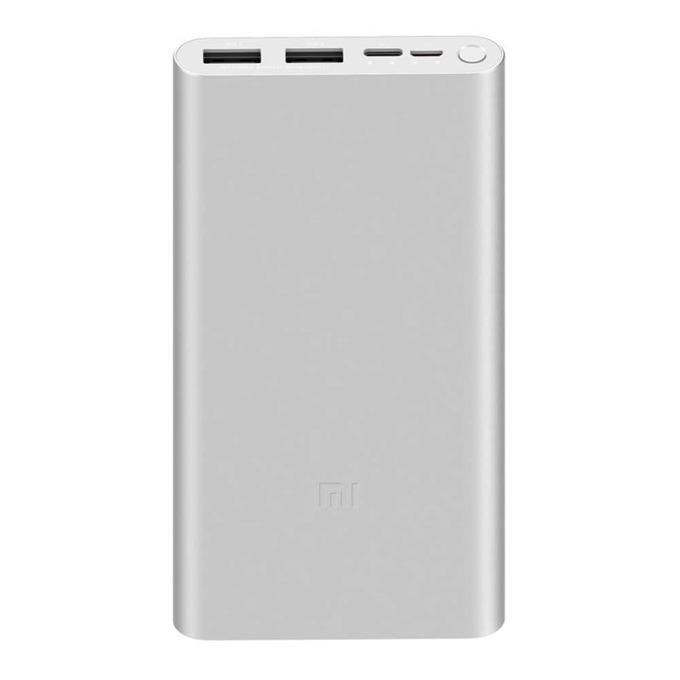 Bъншна батерия /power bank/ Xiaomi Mi Power Bank 3, 10000 mAh, USB A: 5V-2,4А, сребриста image