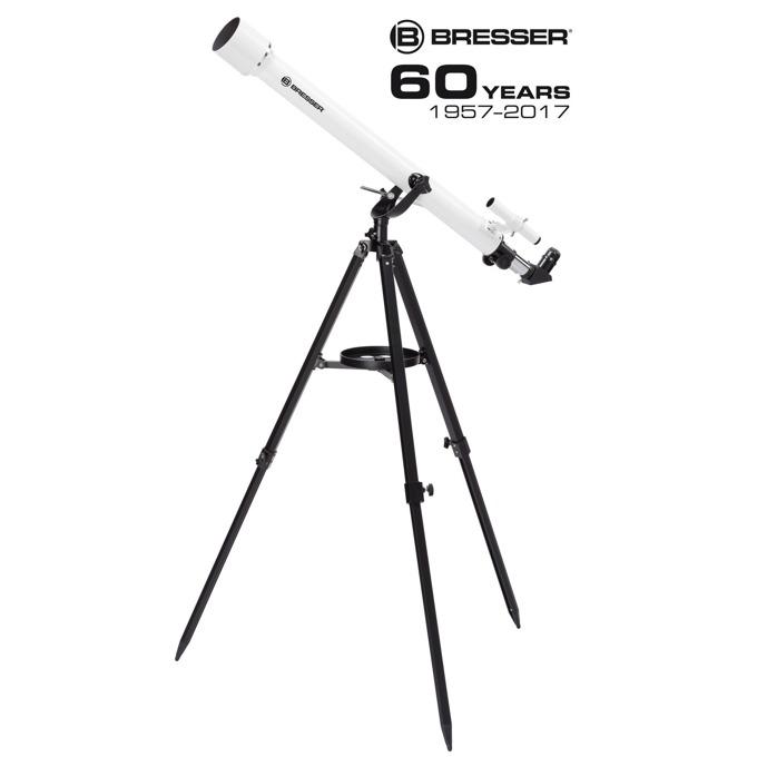 Телескоп Bresser Classic 60/900 AZ, 45-338x оптично увеличение. бял image
