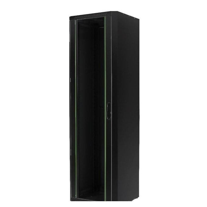 Комуникационен шкаф MIRSAN MR.GTE36U61.01 Free standing ECO, 600 x 1000 x 1730 мм / 36U, D=1000 мм, 600 кг товар, черен, свободно стоящ image