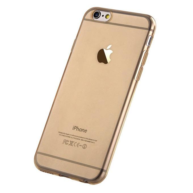 Термополиуретанов протектор Devia Naked Case, iPhone 65 Plus/iPhone 6, златист image