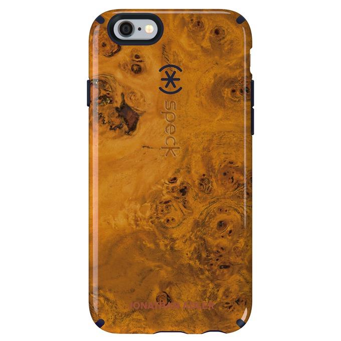 Страничен протектор с гръб Speck за iPhone 6S, гланцов, Honeyed Burl, оранжев image