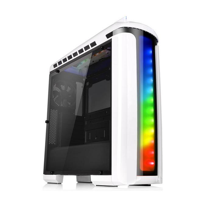 Кутия Thermaltake Versa C22 RGB Snow Edition CA-1G9-00M6WN-00, ATX, 2x USB 3.0 2x USB 2.0, Audio In/Out, LED Control, бяла, без захранване  image