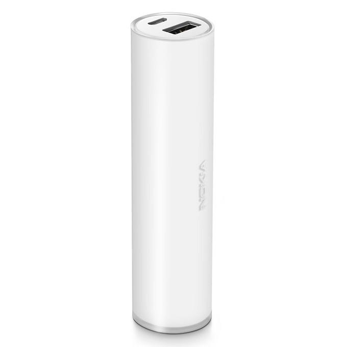 Външна батерия/power bank/ Nokia Universal Portable USB Charger 3200 mAh, бял image