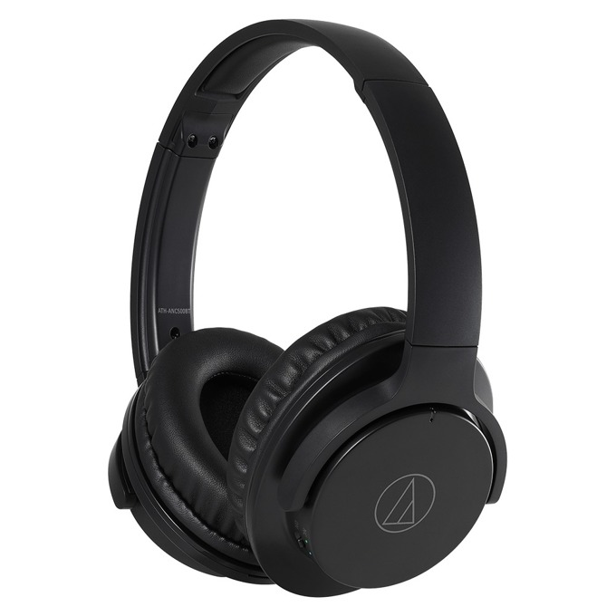 Слушалки Audio-Technica ATH-ANC500BT, bluetooth, микрофон, черни image
