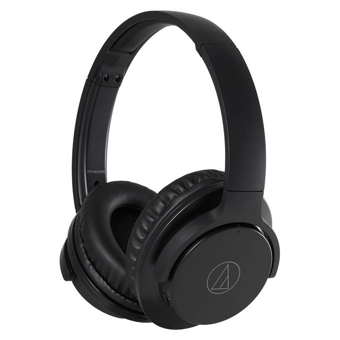 Слушалки Audio-Technica ATH-ANC500BT, bluetooth, микрофон, черни image