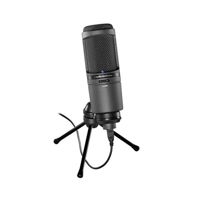 Микрофон Audio-Technica AT2020USBI, професионален кондензаторен кардиоиден, 20-20kHz, 600 ohms, USB, microHDMI image