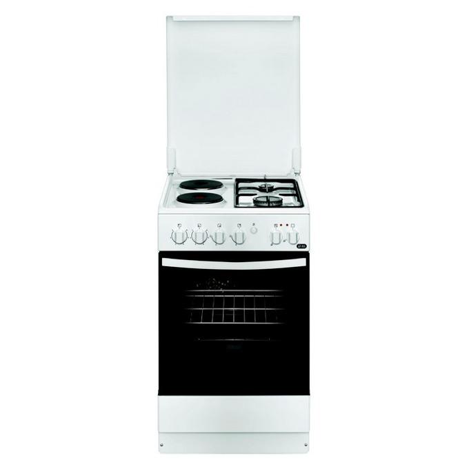 Готварска печка Zanussi ZCM550G1WA, клас А, 54 л. обем, 4 нагревателни зони (2 електрически котлона, 2 газови котлона), бяла  image