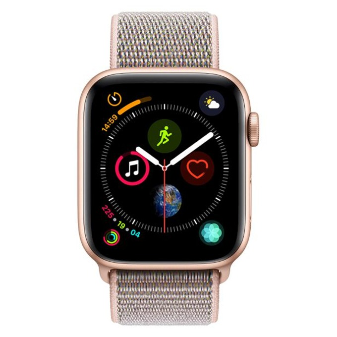 Смарт часовник Apple Watch S4 44mm, OLED дисплей, водоустойчив, спортна каишка, розов image