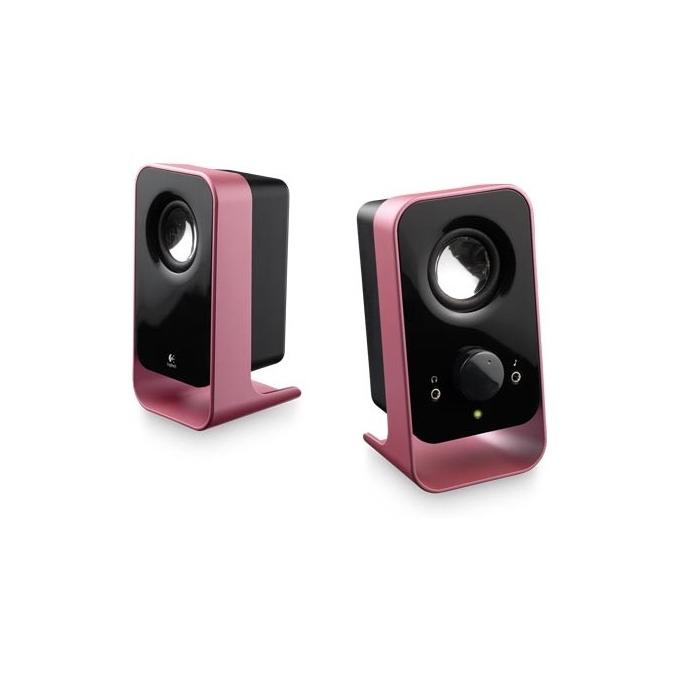 Тонколони Logitech LS11, 2.0, 3W, 3.5mm жак, розови image