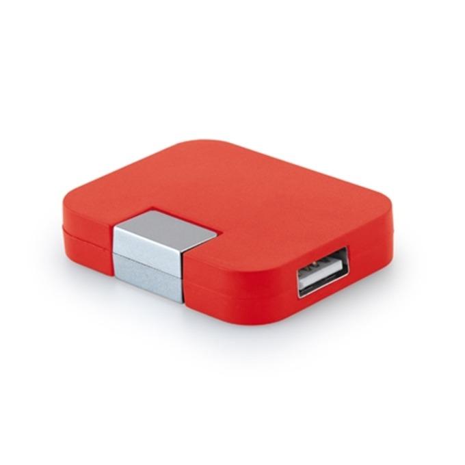 USB хъб Hi!dea, 4 порта, USB 2.0, червен image