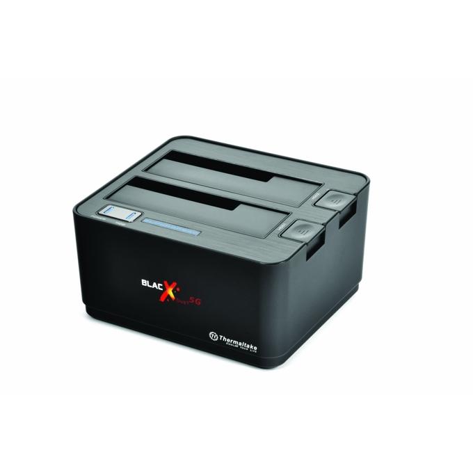 """Докинг станция Thermaltake BlacX Duet 5G, за 2.5"""" и 3.5"""" харддискове, черна image"""