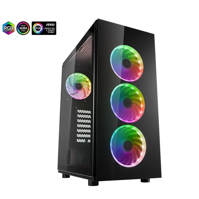FSP CMT340 ARGB Gaming TG Black
